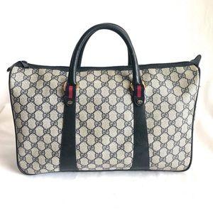 Gucci Vintage GG Supreme Duffle Bag navy #2
